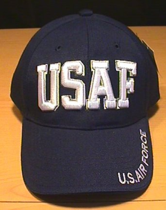 USAF TEXT CAP - NAVY BLUE