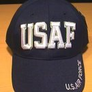 USAF TEXT CAP - NAVY BLUE