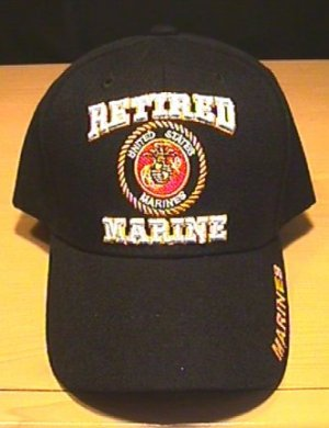 MARINE RETIRED CAP #4 W/3D TEXT AND LOGO