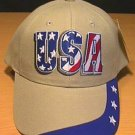 USA PATRIOTIC TEXT CAP W/STARS ON BILL