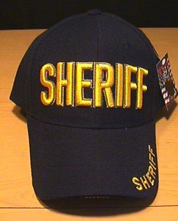 SHERIFF CAP W/3D TEXT - NAVY