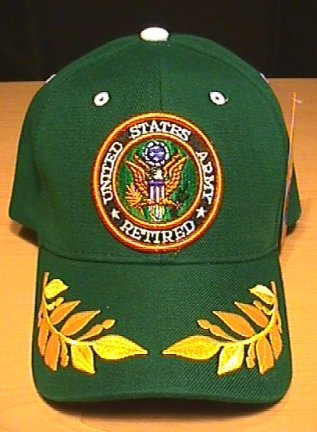 ARMY RETIRED CAP W/CAESAR ACCENTS - GREEN