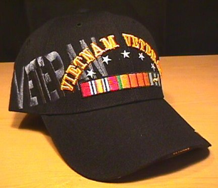 VIETNAM VETERAN CAP WITH VETERAN SHADOW TEXT