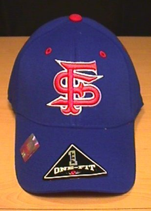 FRESNO STATE BULLDOGS FLEX FIT CAP - ROYAL BLUE