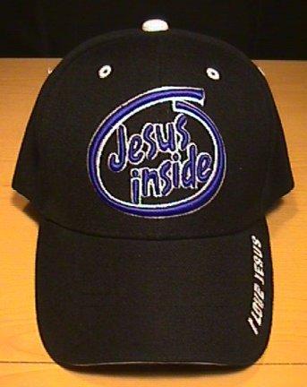 JESUS INSIDE CAP - BLACK
