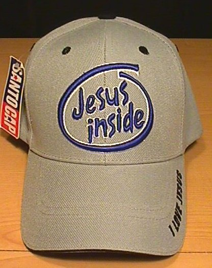 JESUS INSIDE CAP - GRAY