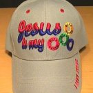 JESUS IS MY LIFESAVER CAP - GRAY