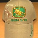 JOHN 3:16 CHRISTIAN CAP - TAN