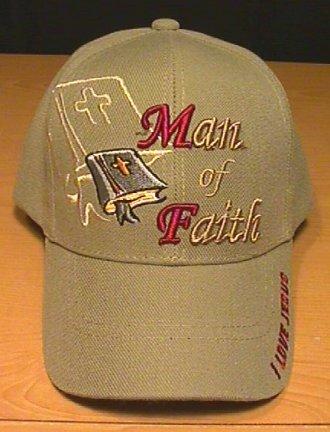 MAN OF FAITH CHRISTIAN CAP - TAN