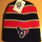 HOUSTON TEXANS BEANIE W/LARGE STRIPES