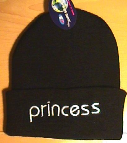 PRINCESS WINTER KNIT CAP - BLACK