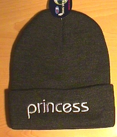 PRINCESS WINTER KNIT CAP - DARK GRAY