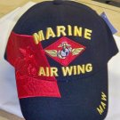 MARINE AIR WING RED SHADOW CAP - BLACK