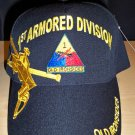 1ST ARMORED DIVISION CAP - BLACK
