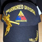 2ND ARMORED DIVISION CAP -BLACK