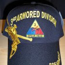 3RD ARMORED DIVISION CAP - BLACK