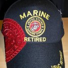 MARINE RETIRED #4 W/SHADOW CAP - BLACK