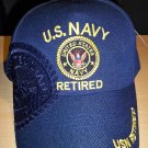 NAVY RETIRED CAP W/SHADOW - NAVY