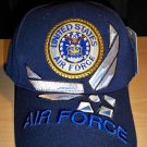 AIR FORCE CIRCLE LOGO and WINGS W/3D TEXT - NAVY