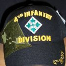 4th INFANTRY DIVISION HAT - BLACK