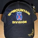 10th MOUNTAIN DIVISION CAP W/SUBDUED SHADOW EMBROIDERY