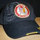 VIETNAM VETERAN CAP #6 CIRCLE LOGO W/GREY SHADOW EMBROIDERY