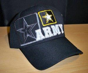 ARMY TEXT W/STAR SHADOW CAP #1