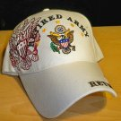 ARMY RETIRED CAP W/SHADOW EMBROIDERY - WHITE