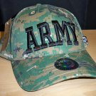 ARMY 3D TEXT CAP ON WOODLAND DIGITAL CAMO