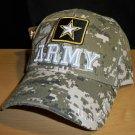 ARMY TEXT W/STAR SHADOW CAP - DIGITAL CAMO