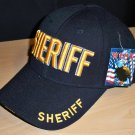 SHERIFF CAP - BLACK W/RAISED GOLD LETTERING