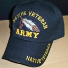 ARMY NATIVE VETERAN CAP - FEATHER W/SHADOW