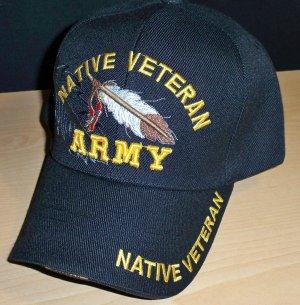 ARMY NATIVE VETERAN CAP - FEATHER W/SHADOW