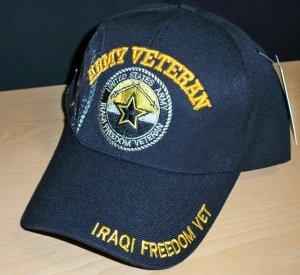 ARMY IRAQI FREEDOM VETERAN CAP - STAR W/SHADOW
