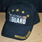 ARMY NATIONAL GUARD CAP - BLACK W/STARS