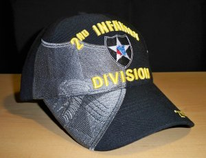 2ND INFANTRY DIVISION SHADOW HAT - BLACK