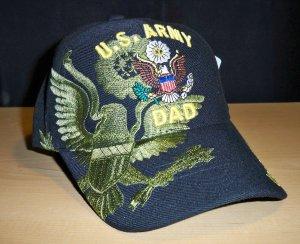 ARMY DAD SHADOW HAT - BLACK