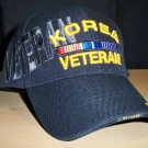 KOREAN VETERAN HAT #2 W/GREY SHADOW EMBROIDERY - BLACK