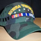 KOREAN WAR VETERAN SHADOW WOODLAND CAMO CAP W/RIBBON