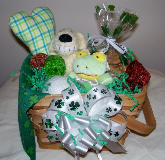 St. Patrick's Day Gift Basket for Dogs