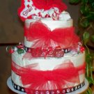 Puppy Love 2 Tier Cake - Puppy shower gift or Sweetest Day dog gift