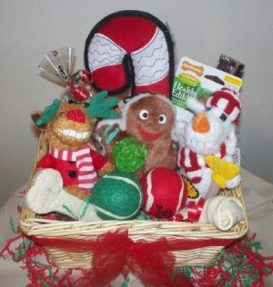 Tis The Season Mega Basket of Gifts for Dogs