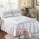 IVORY BED SPREAD FEELS LIKE SILK GREAT