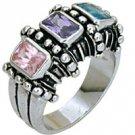 1 CT Multicolor CZ Ring SZ 9