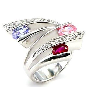 Multicolor CZ Ring