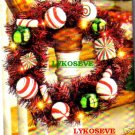 CHRISTMAS TINSEL CANDY WREATH
