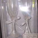 NW PAIR OF TOASTING FLUTES I GIVE YOU MY HEART GREAT