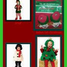 christmas toddler costumes  snowman@ christmas tree@ little elf @1st christmas