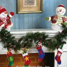 SNOWMAN MANTEL GARLAND WITH STOCKING A MUST SEE @ HAVE LIGHTS UP U MUST SEE IT