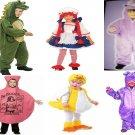 UNICORN/BLUE DRAGON/DUCKY/WHOOPIE CUSHION/RAGGEDY ANN/ALLIGATOR CHILDS COSTUMES